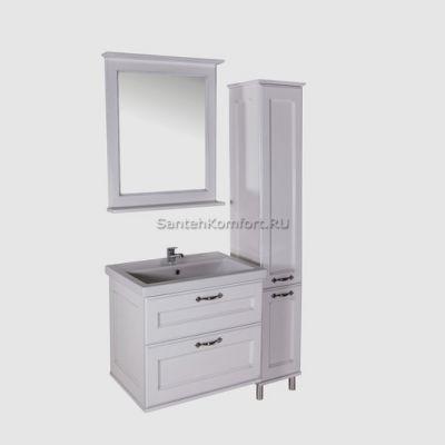 АСБ-Мебель Комплект мебели Прато 70 белый патина