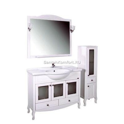 АСБ-Мебель Комплект мебели Флоренция 105 витраж белый патина