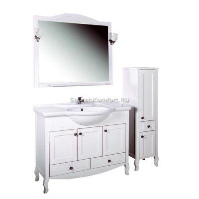 АСБ-Мебель Комплект мебели Флоренция 105 белый патина