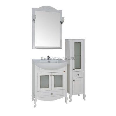 АСБ-Мебель Комплект мебели Флоренция 65 витраж белый патина