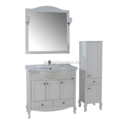 АСБ-Мебель Комплект мебели Флоренция 85 белый патина
