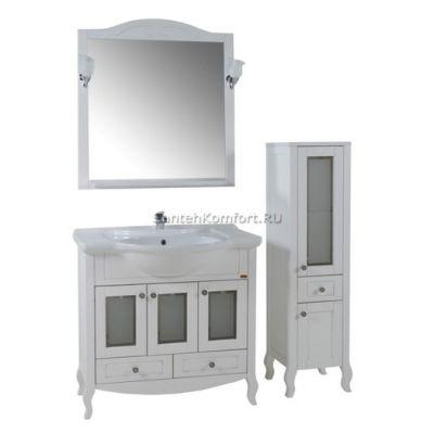 АСБ-Мебель Комплект мебели Флоренция 85 витраж белый патина