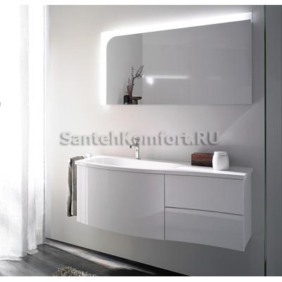 Мебель для ванной Burgbad SINEA (121 см) белый глянец