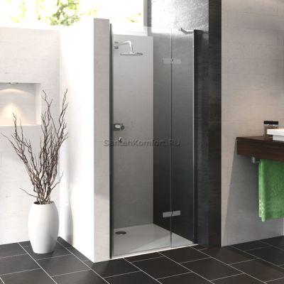 HUPPE Enjoy pure распашная дверь с неподвижным сегментом для ниши 130 см