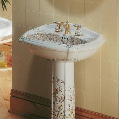 Kohler Artist Edition English Trellis раковина с пьедесталом 69х49 см