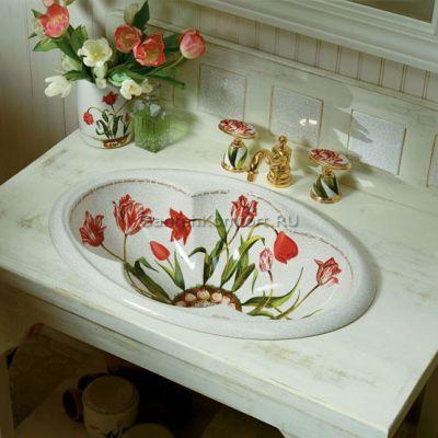 Kohler Fables&Flowers раковина встраиваемая 64х43 см