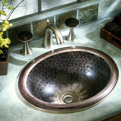 Kohler Serpentine Bronze раковина встраиваемая 43х36 см