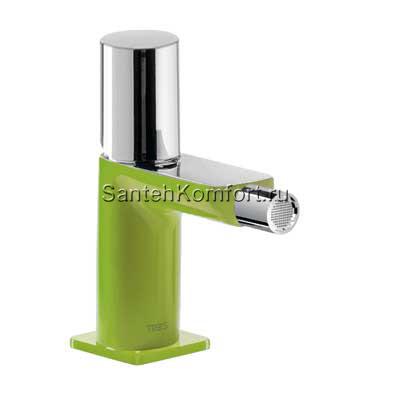 Tre Loft зеленый цилиндр ручка д/биде с дон.клапан, высота 147мм, 20012002VED